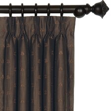 Josephine Embroidered Silk Three Finger Cotton Pleated Curtain Single Panel