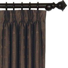 Josephine Embroidered Silk Three Finger Cotton Pleated Curtain Single Panel