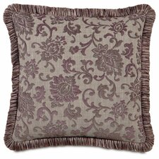Mica Polyester Decorative Pillow with Brush Fringe