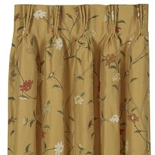 Gabrielle Silk Pleated Curtain Single Panel