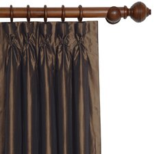 Freda Solid Tafetta Cotton Rod Pocket Curtain Single Panel