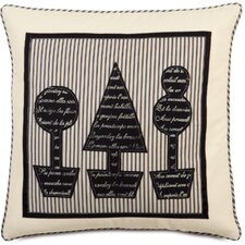<strong>Eastern Accents</strong> Evelyn Polyester Fullerton Ink Topiary Block Printed Decorative Pillow