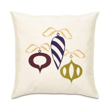 Candy Cane Retro Ornaments Decorative Pillow