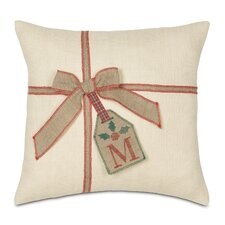 Joyeaux Noel Gift Tag Decorative Pillow