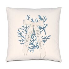 Coastal Tidings Coral Christmas Decorative Pillow