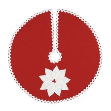 North Pole Holiday Floral Mini Tree Skirt in Red