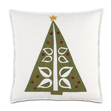 North Pole O Christmas Tree Decorative Pillow