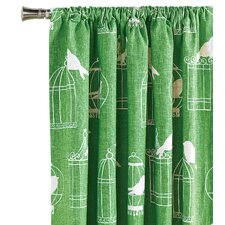Polly Cotton Rod Pocket  Curtain Single Panel