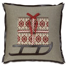 Nordic Holiday Santa's Sleigh Pillow