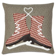 Nordic Holiday Glass Skaters Pillow