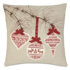 Nordic Holiday Festive Bow Pillow