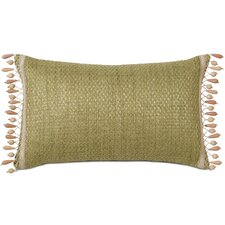 Caicos Polyester Wades Decorative Pillow with Beaded Trim