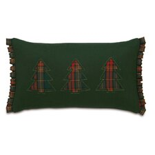 <strong>Eastern Accents</strong> Home for The Holidays Three Plaid Trees Decorative Pillow
