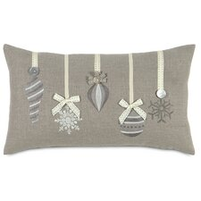<strong>Eastern Accents</strong> Dreaming of a White Christmas Glistening Ornaments Pillow