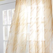 Antigua Collier Sunshine Rod Pocket Sheer Curtain Single Panel