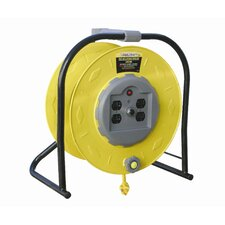 Hand Crank Extension Cord Reel for 4 Outlets