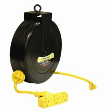 "16 AWG / 3 Cond x 30"", 10 AMP Triple Outlet Cord Reel"