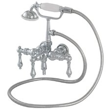 <strong>American Bath Factory</strong> 400 Series Solid Brass Bath Tub Faucet with Straight Arms