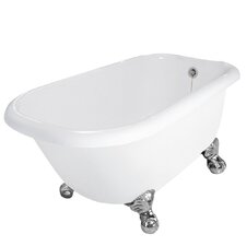 "Jester 54"" x 30"" AcraStone Traditional Bathtub with No Faucet Holes"