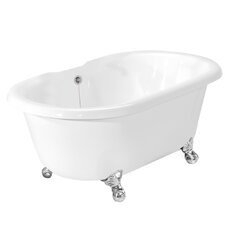 "Melinda 60"" x 32"" AcraStone Double Ended Bathtub with No Faucet Holes"
