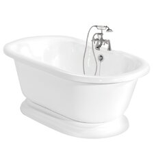 Nobb Hill Double Handle Deck Mount Clawfoot Tub Faucet