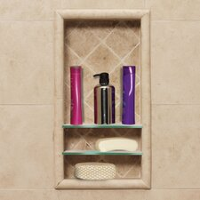 Optional Recessed Shampoo Shelf in Medium Stone