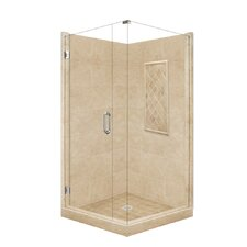 <strong>American Bath Factory</strong> Supreme Neo-Angle Door Front-and-Left Threshold Shower Enclosure