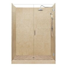 Grand Pivot Door Single Threshold Shower Enclosure