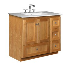 "<strong>Strasser Woodenworks</strong> Simplicity 37"" Bathroom Vanity Set"