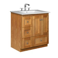 "<strong>Strasser Woodenworks</strong> Simplicity 31"" Bathroom Vanity Set"