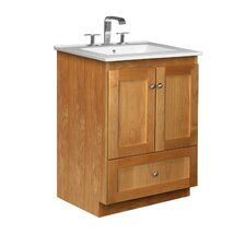 "<strong>Strasser Woodenworks</strong> Simplicity 25"" Bathroom Vanity Set"