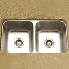 "Medallion Classic 31.5"" x 17.94"" Undermount Double Bowl 50/50 Kitchen Sink"