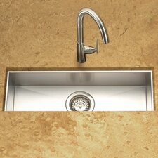 "Contempo 42"" x 8.5"" x 6"" Zero Radius Undermount Trough Bar Sink"