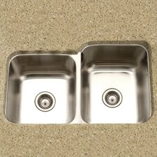 "Medallion Classic 31.5"" x 17.94 - 20.19"" Undermount Double Bowl 60/40 Kitchen Sink with Small Left Bowl"