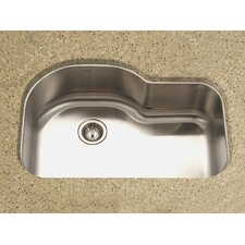 "Medallion Designer 31.5"" x 17.94 - 21"" Undermount Offset Single Bowl Kitchen Sink"