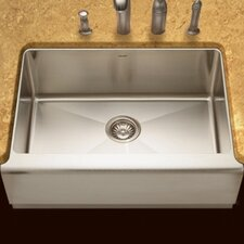 "Epicure 29.88"" x 20"" Farmhouse Single Bowl Kitchen Sink"