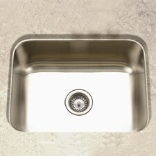 "Elite 23.19"" x 17.94"" Undermount Single Bowl Kitchen Sink"