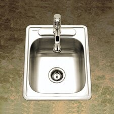 "Glowtone ADA Compliant 22"" x 17"" Topmount Single Bowl 22 Gauge Kitchen Sink"