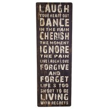 Wooden Word Laugh Board in Black