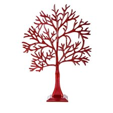Tall Jewellery Tree of Life in Red