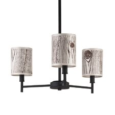 Walker 3 Light Mini Chandelier with Clip Shades