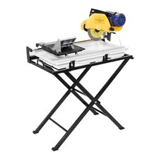 "2 HP 10"" Blade Capacity Dual Speed Tile Saw with Stand, Pump and 10"" Continuous Blade"