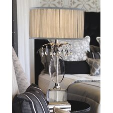 Luxe Orlov Table Lamp in Shimmer Grey