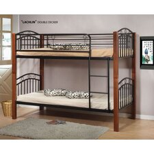 Bunk Bed / Timber Posts - Converts To Two Single Beds in Oak / Black