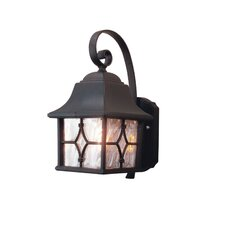 One Light Wall Lantern in Black