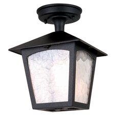 York 1 Light Flush Lantern