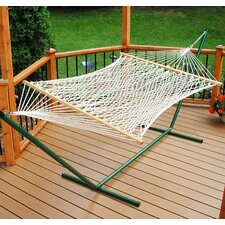 Large Polyester Rope Hammock with Stand