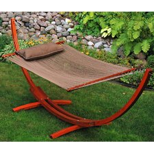 <strong>Algoma Net Company</strong> 12' Arc Stand and Caribbean Hammock with Pillow