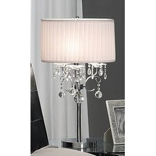Table Lamp with Large Crystal Detailing