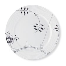 "Black Fluted Mega 10.75"" Dinner Plate"